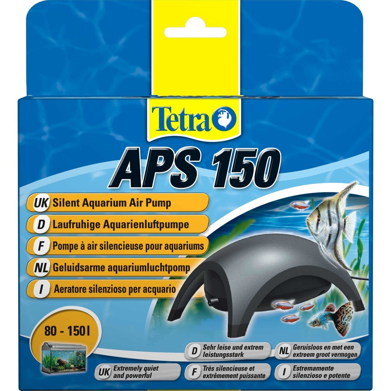 Tetra APS Aquarienluftpumpe, APS 150, anthrazit