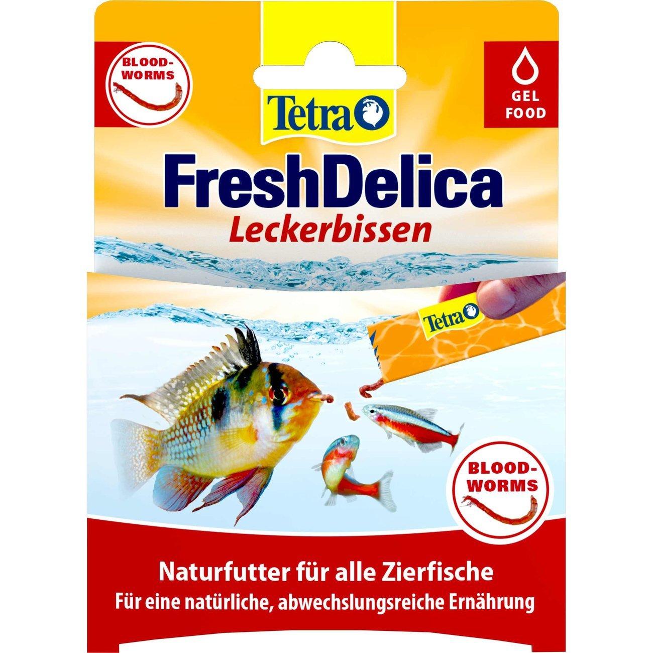 Tetra FreshDelica Gelee, rote Mückenlarven, 48 g