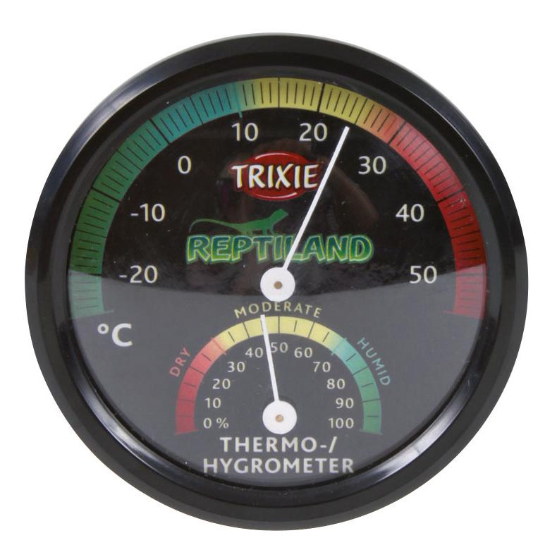 Trixie Thermometer und Hygrometer für Terrarien, analog, ø 7,5 cm