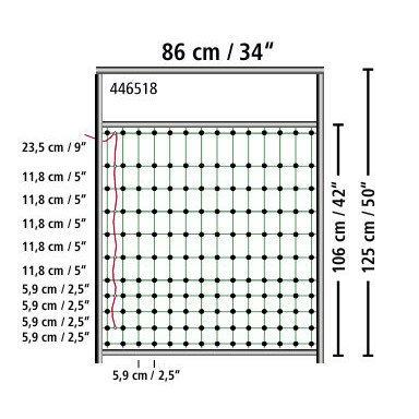 Kerbl Tor für Geflügelnetze, elektifizierbar, Bild 6