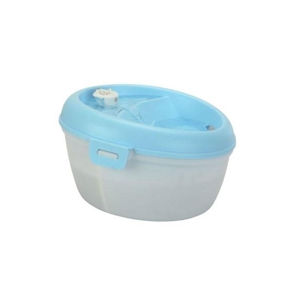 Dog H2O Trinkbrunnen für Hunde und Katzen, weiß-blau (4l)