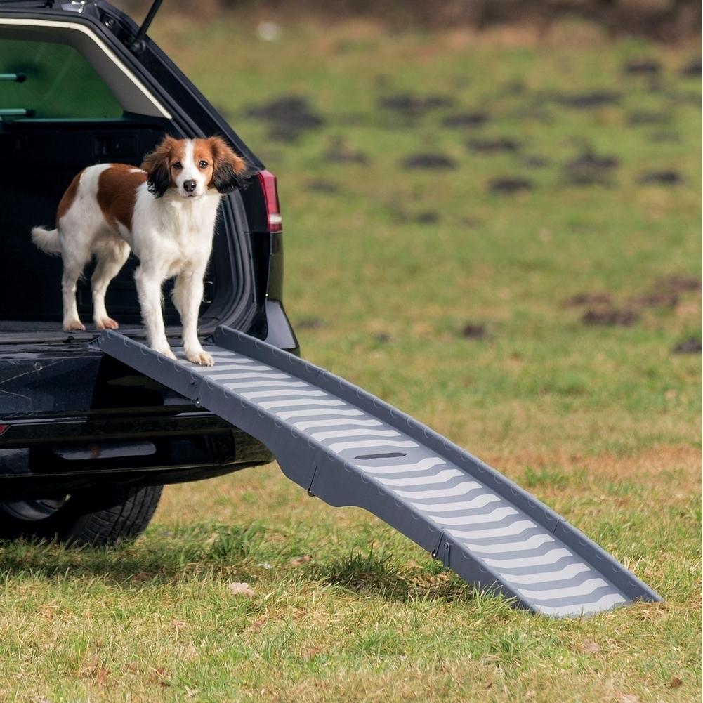 TRIXIE Auto Hunderampe, 3-fach klappbar 39476
