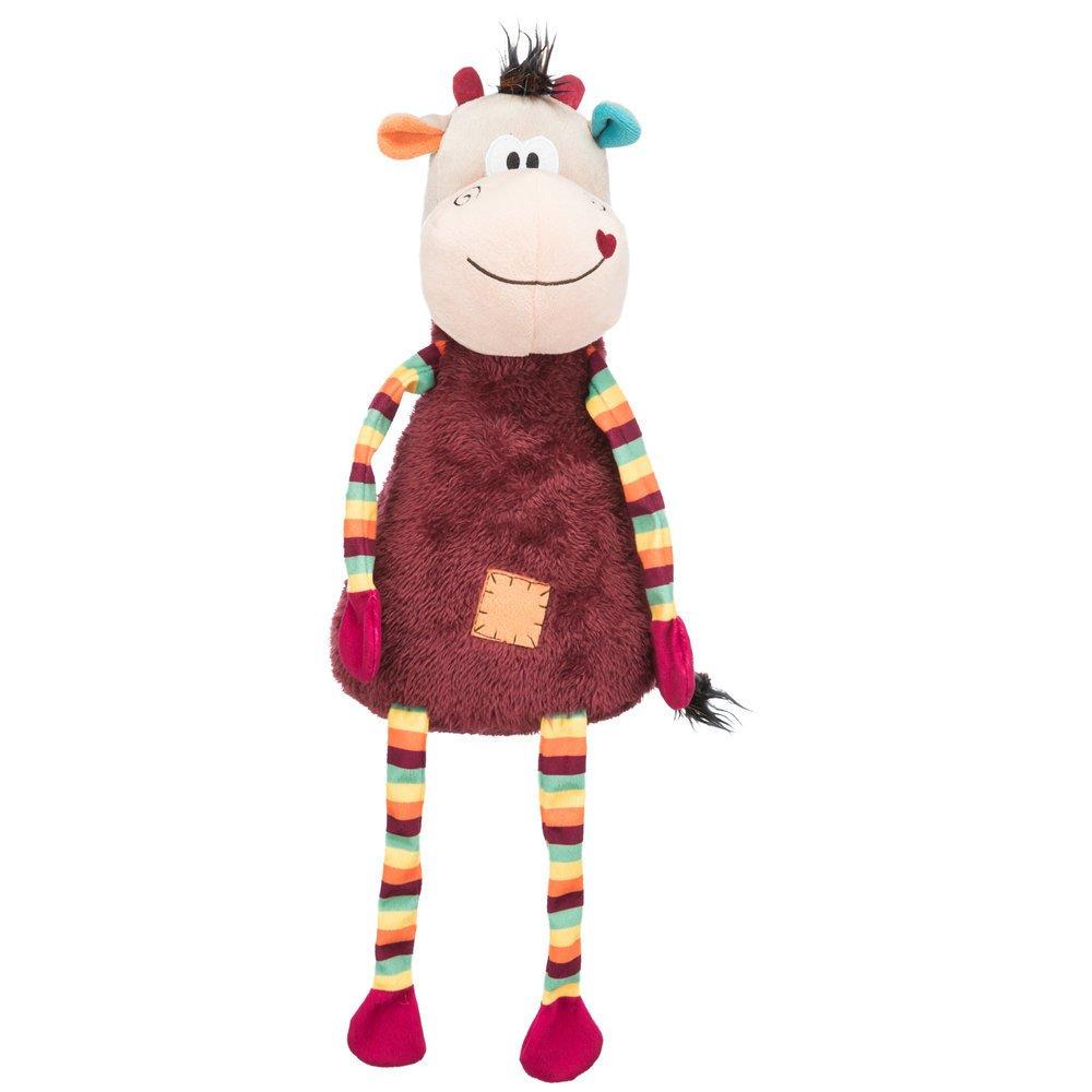 Trixie Bunte Plüsch Kuh, 53 cm, bunt