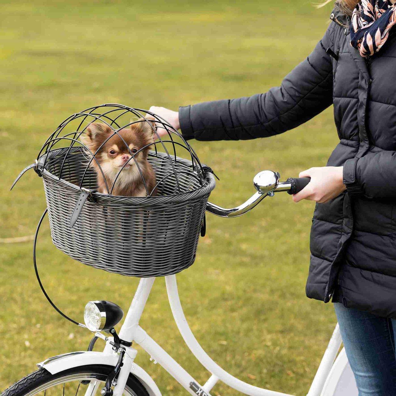 Trixie Fahrradkorb aus Polyrattan mit Gitter 13119