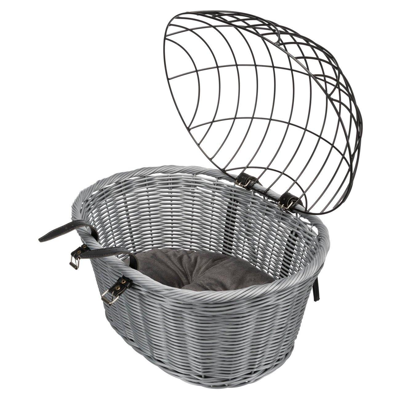 Trixie Fahrradkorb aus Polyrattan mit Gitter 13119, Bild 3