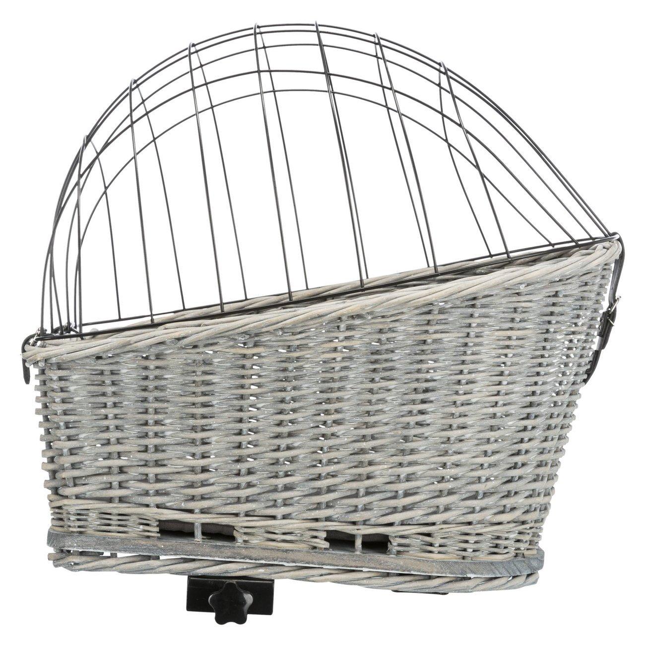 Trixie Fahrradkorb für Gepäckträger, Breite 35 × Höhe 49 × Länge 55 cm, grau