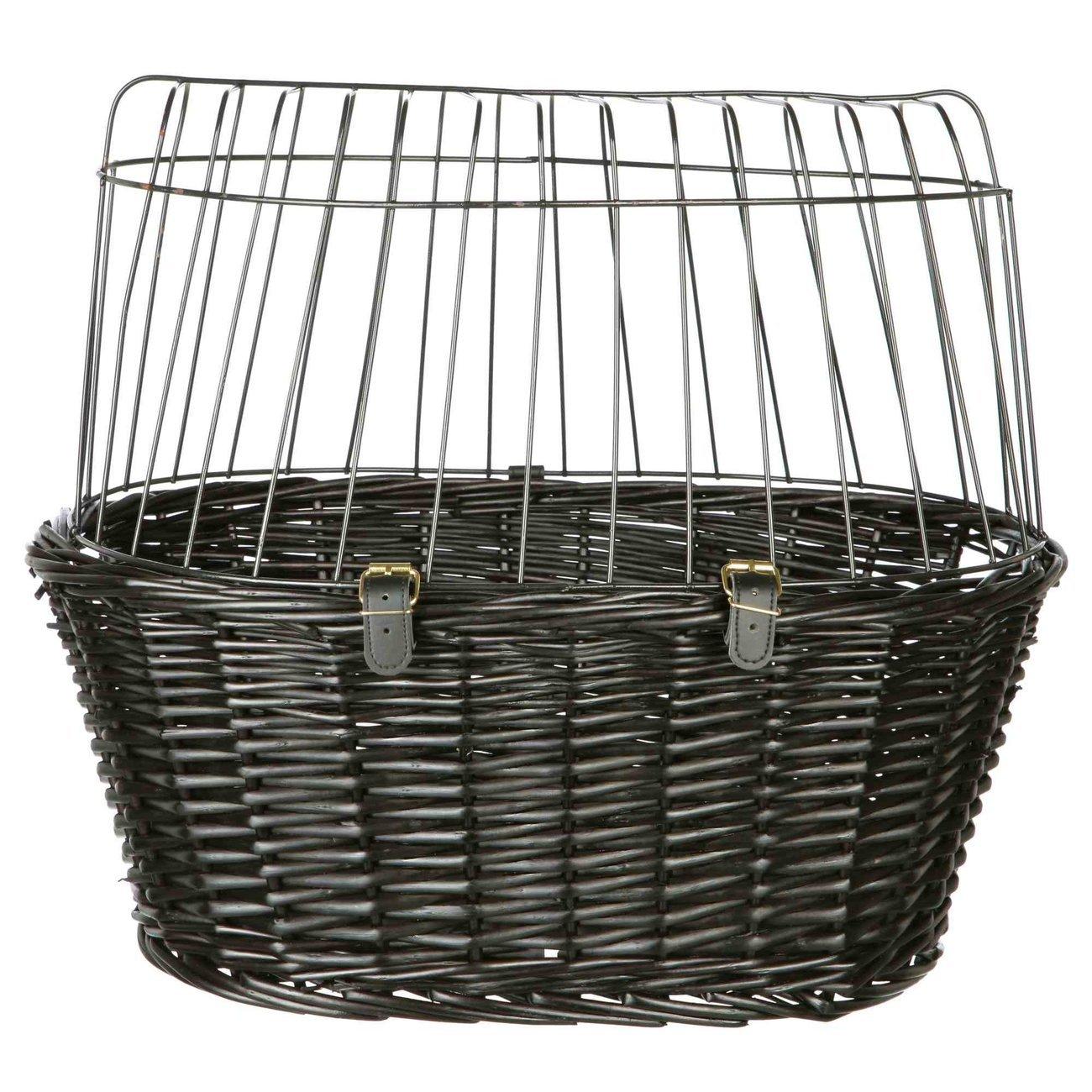 TRIXIE Fahrradkorb mit Gitter, schwarz 2818