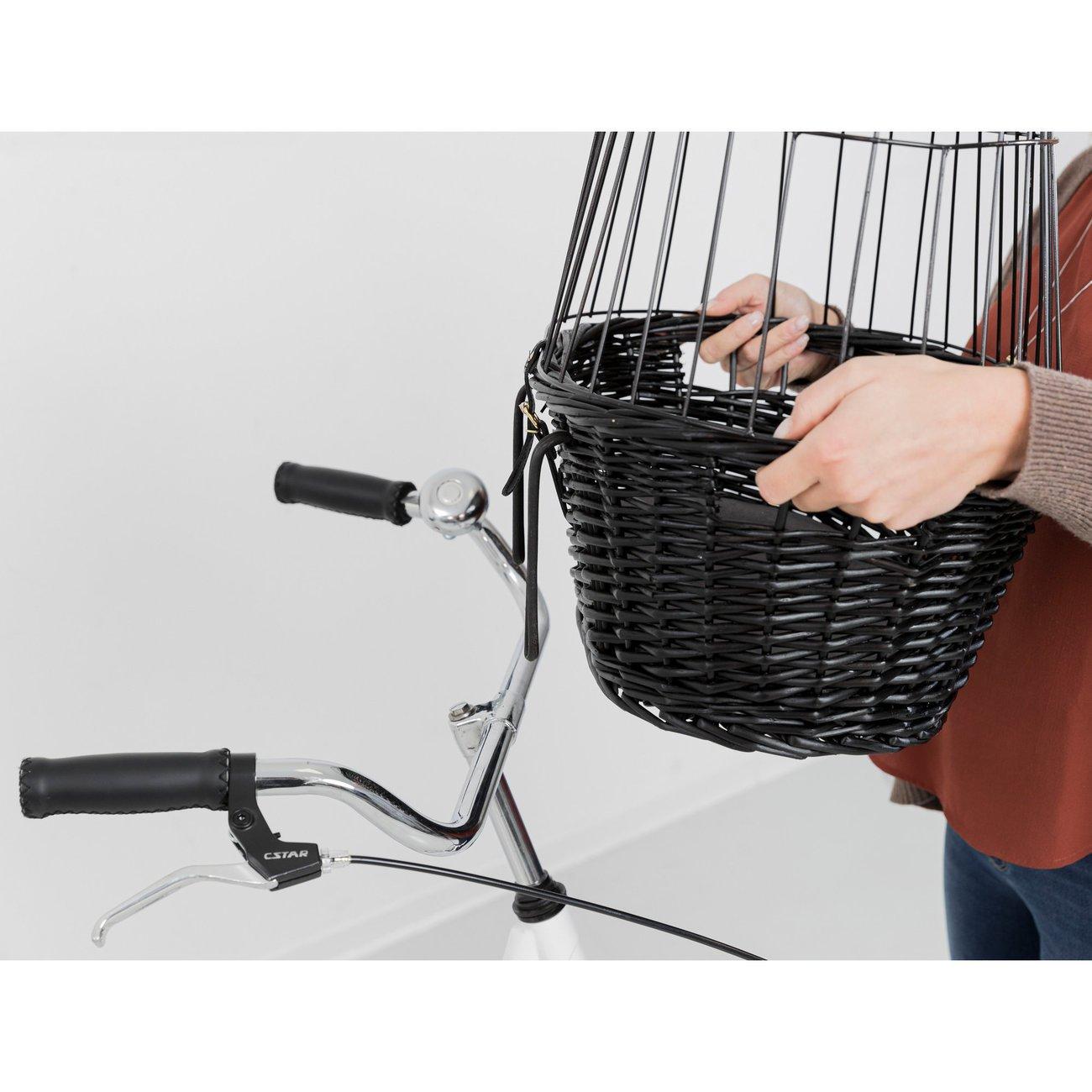 TRIXIE Fahrradkorb mit Gitter, schwarz 2818, Bild 8