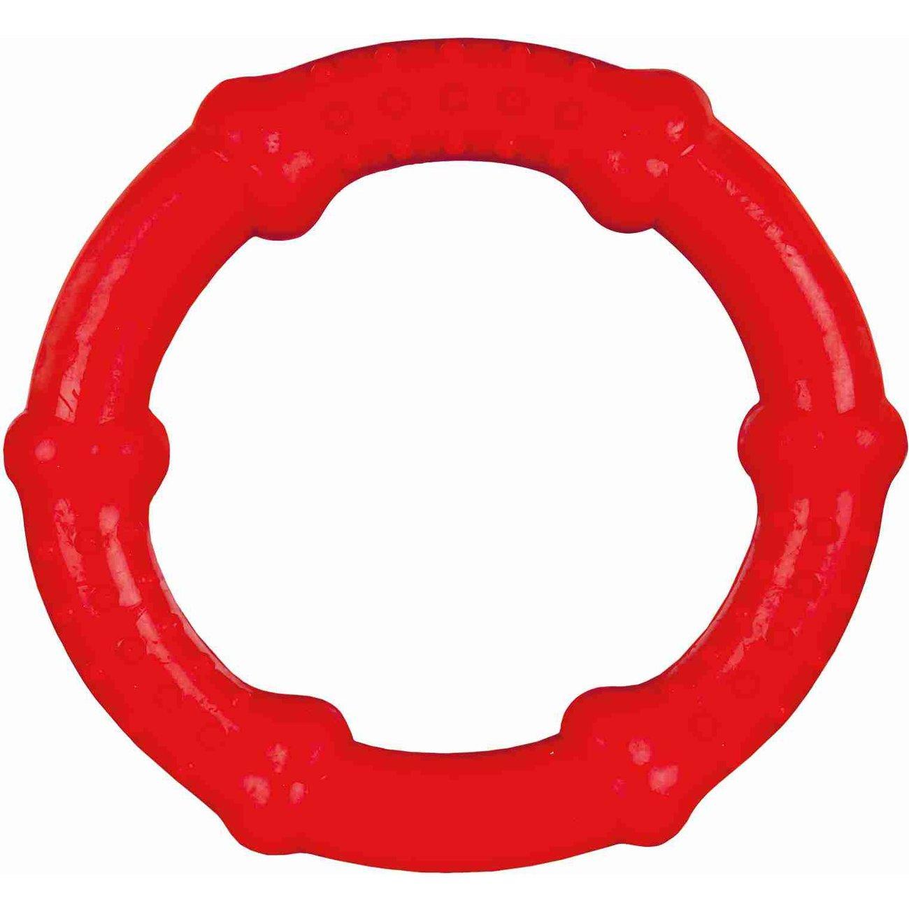 Trixie Gummiring Schwimmspielzeug für Hunde, ø 16 cm - zufällige Farbe