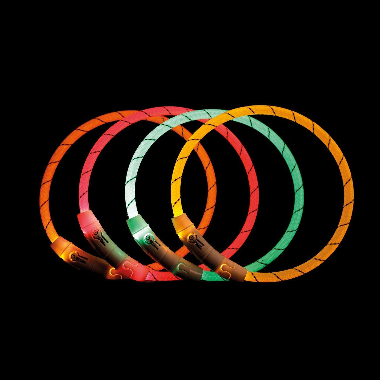 TRIXIE Hunde Leuchtring Nylon USB 12691