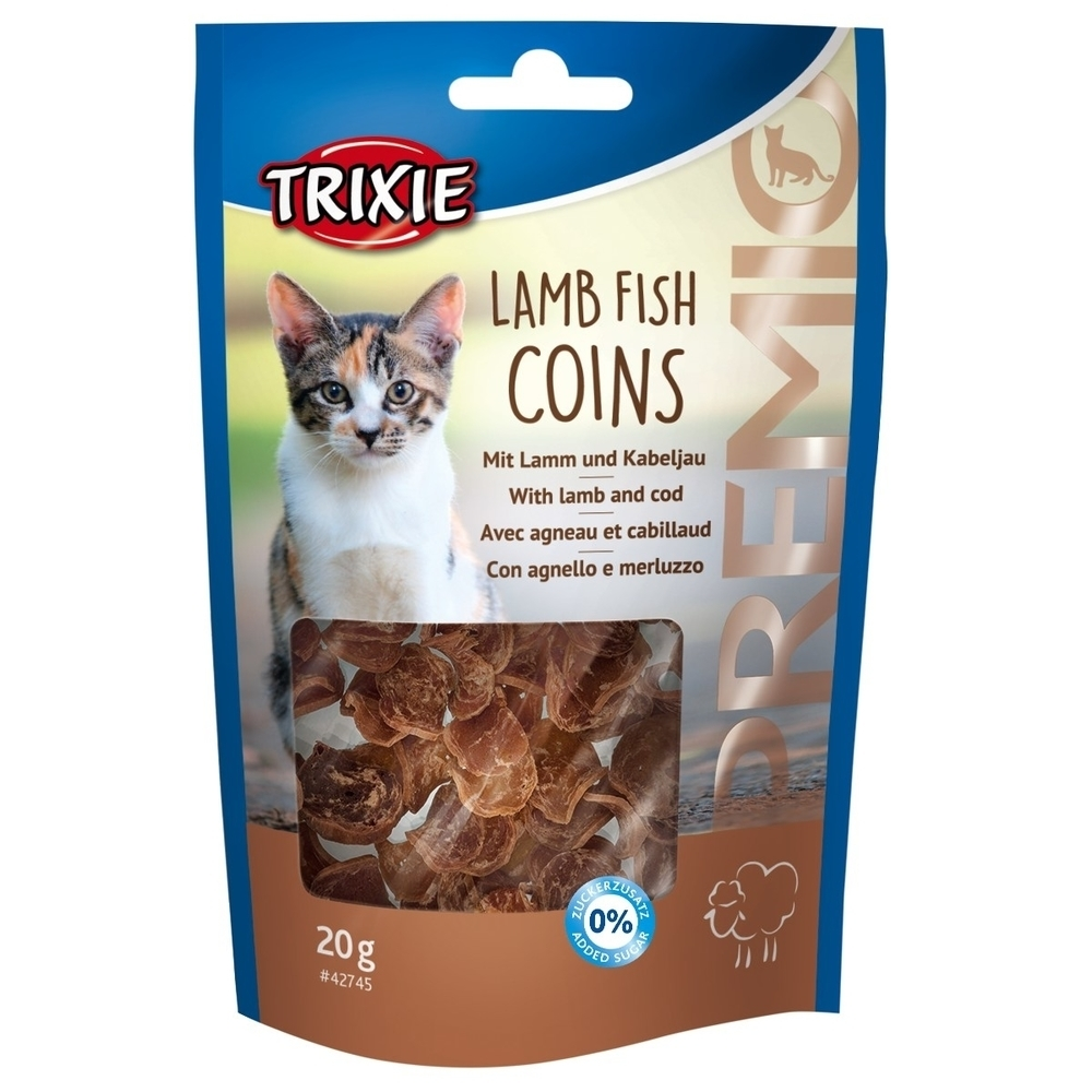 Trixie Katzensnack PREMIO Lamb Fish Coins 42745