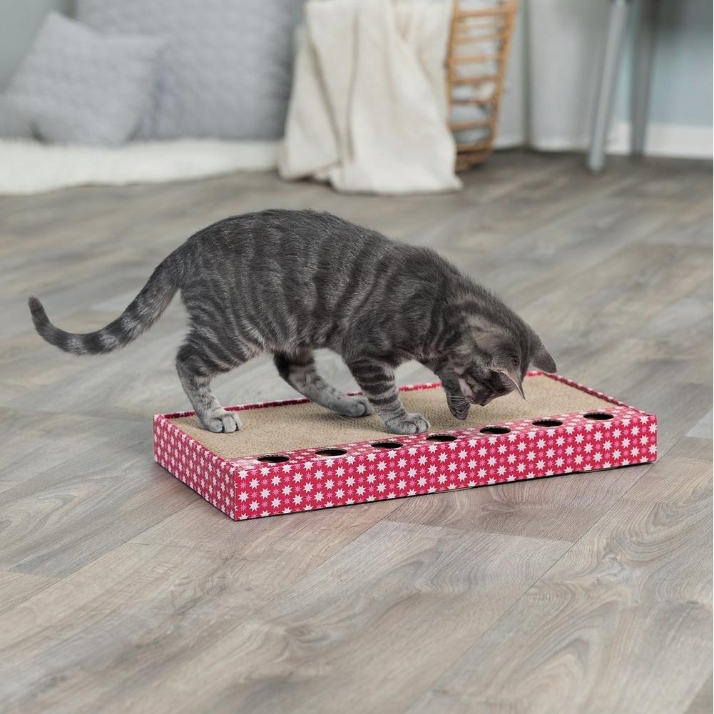 Trixie Kratzpappe für Katzen mit Spielzeug 48005, Bild 2