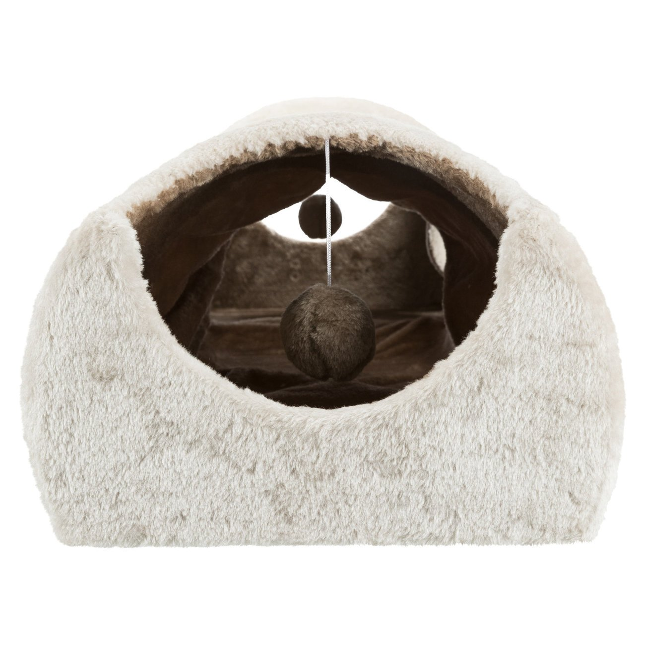 TRIXIE Kratztunnel für Katzen mit Plüsch Bezug 43004, Bild 5