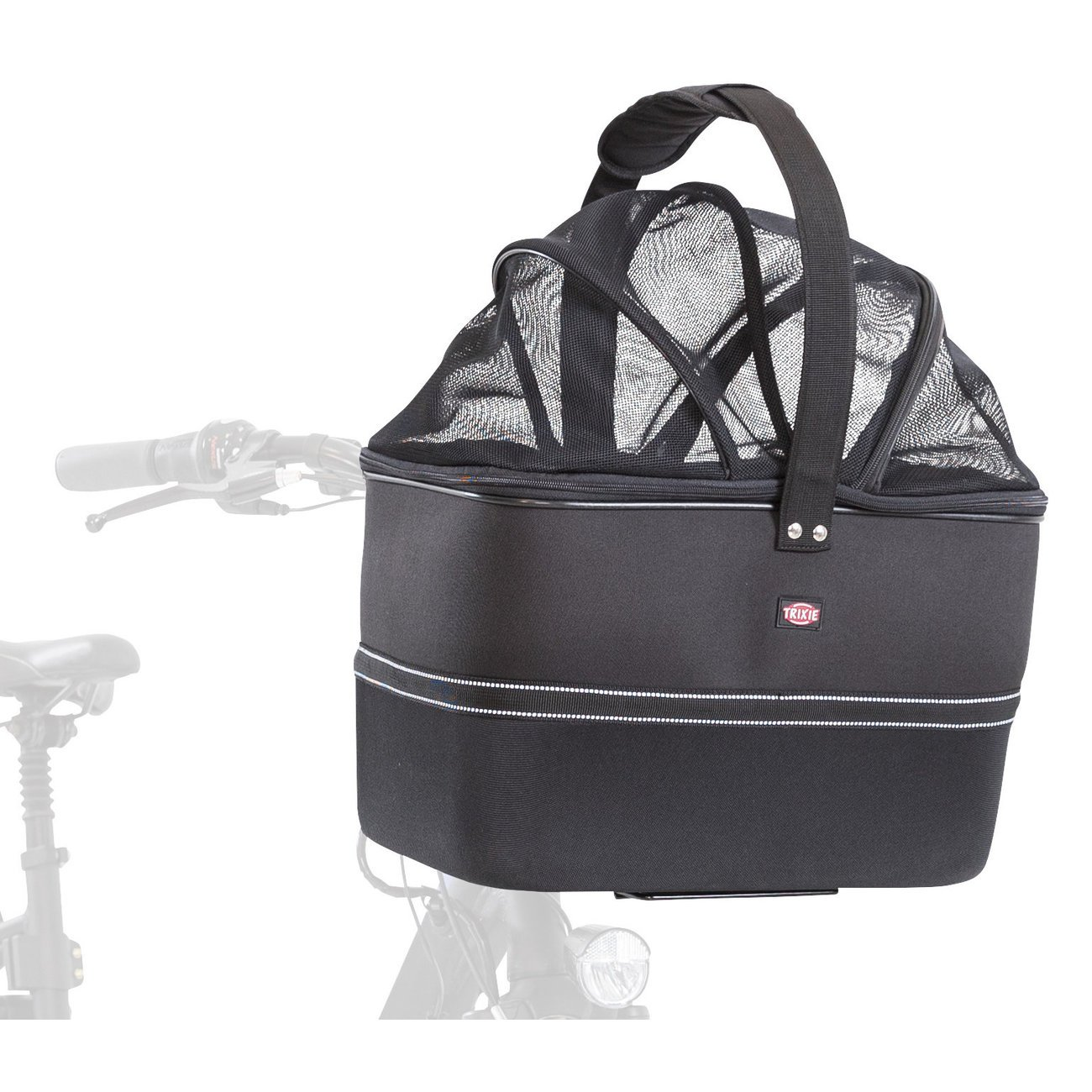 Trixie Lenker Front-Fahrradkorb für Hunde, 41 x 47 x 29 cm, schwarz