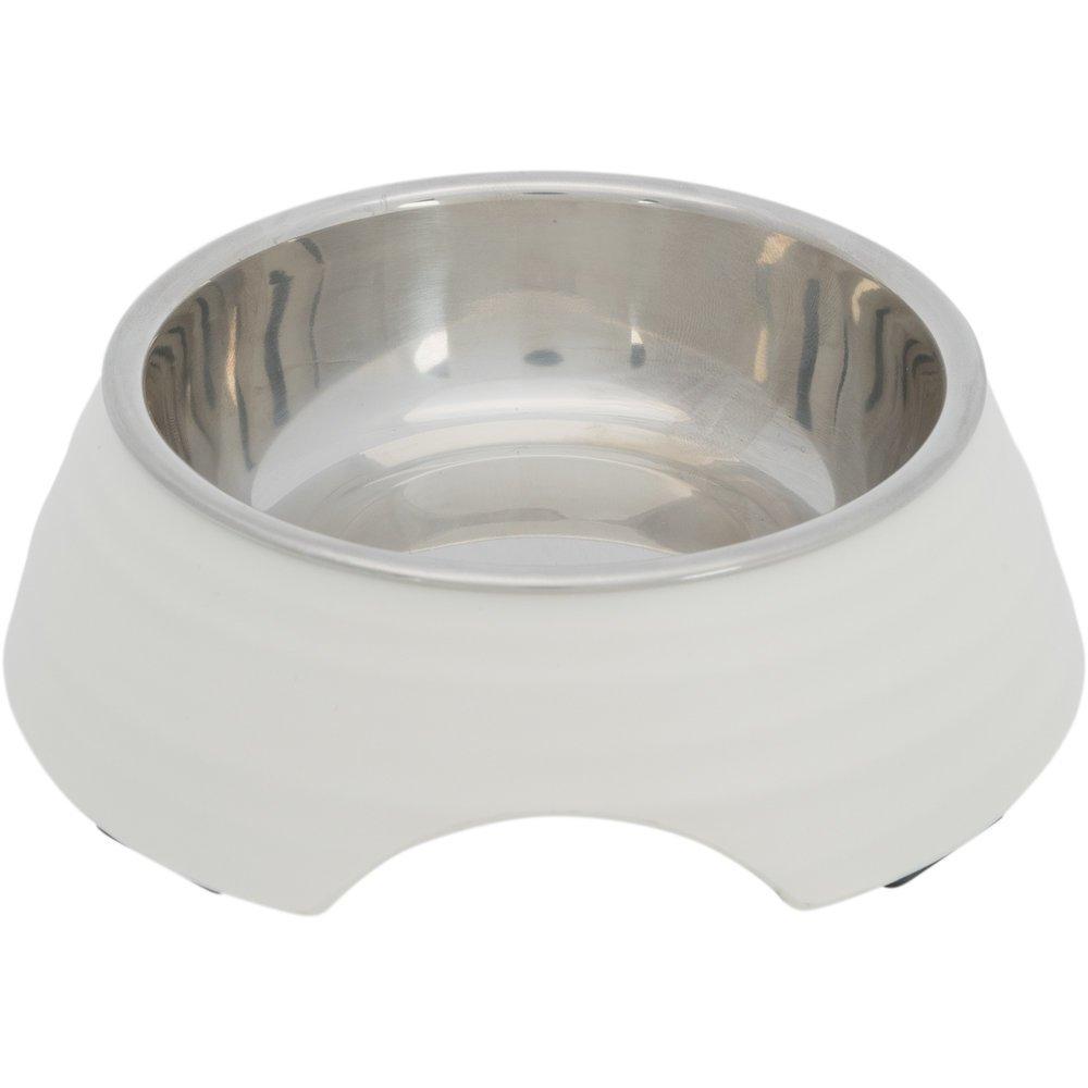 Trixie Hundenapf aus Melamin, 0,2 l/ø 14 cm, weiß