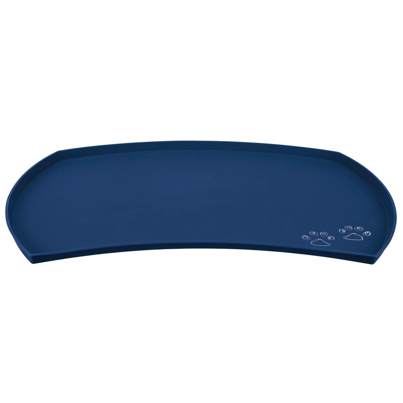 Trixie Napfunterlage aus Silikon, 48 × 27 cm, blau