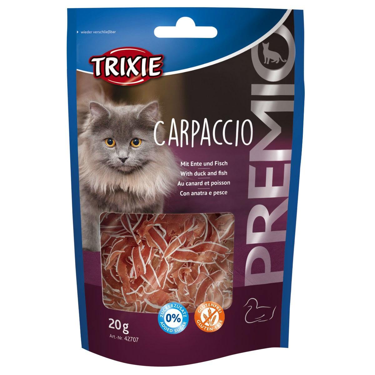 Trixie PREMIO Carpaccio Katzensnack, Ente und Fisch, 20 g