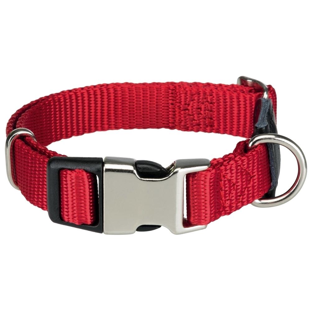 Trixie Premium Nylon mit Metallverschluss, L–XL: 45–70 cm/25 mm, rot