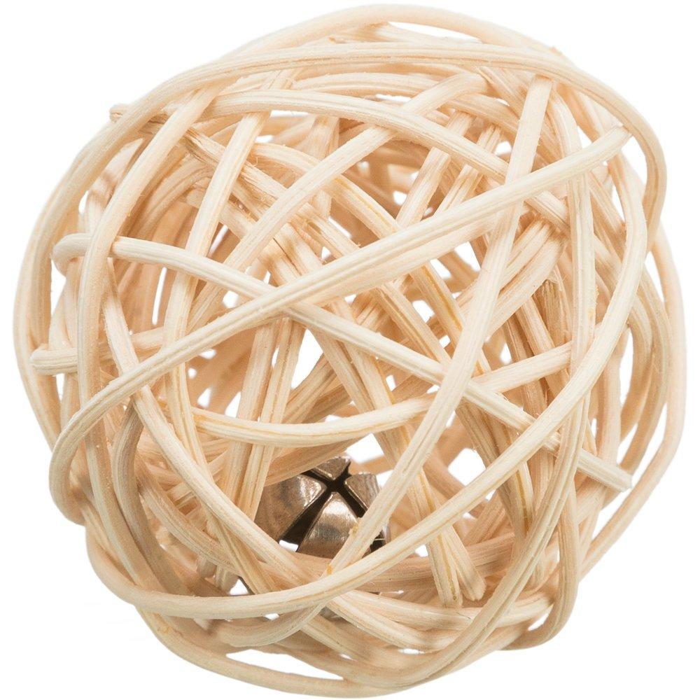 Trixie Rattan Ball mit Schelle für Katzen, ø 4 cm