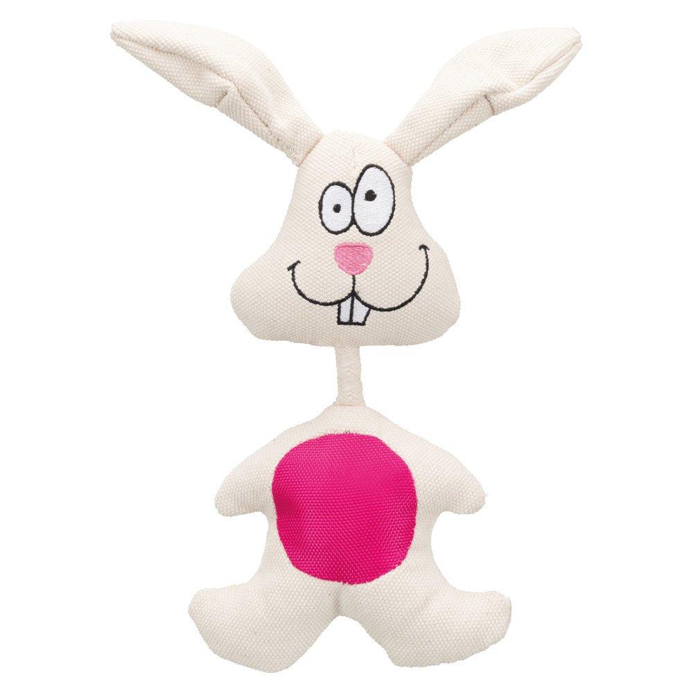 Trixie Stoffhase für Hunde, 29 cm, weiß/pink
