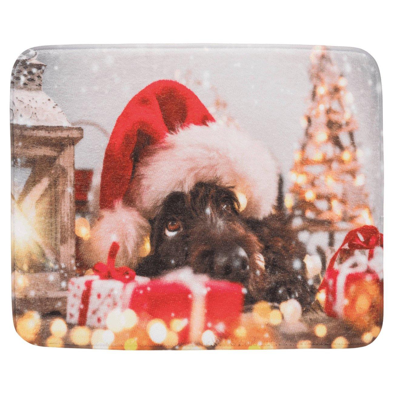 Trixie Weihnachts Liegematte mit Motiv, 50 x 40 cm - Motiv Hund