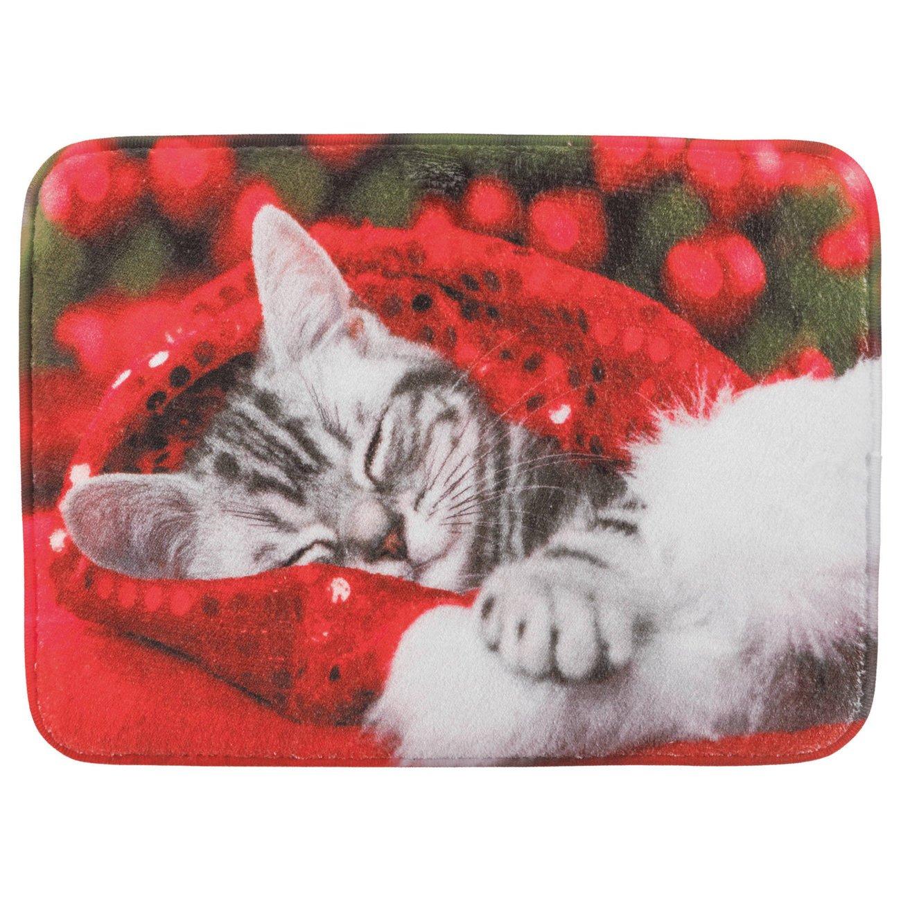 Trixie Weihnachts Liegematte mit Motiv, 40 x 30 cm - Motiv Katze