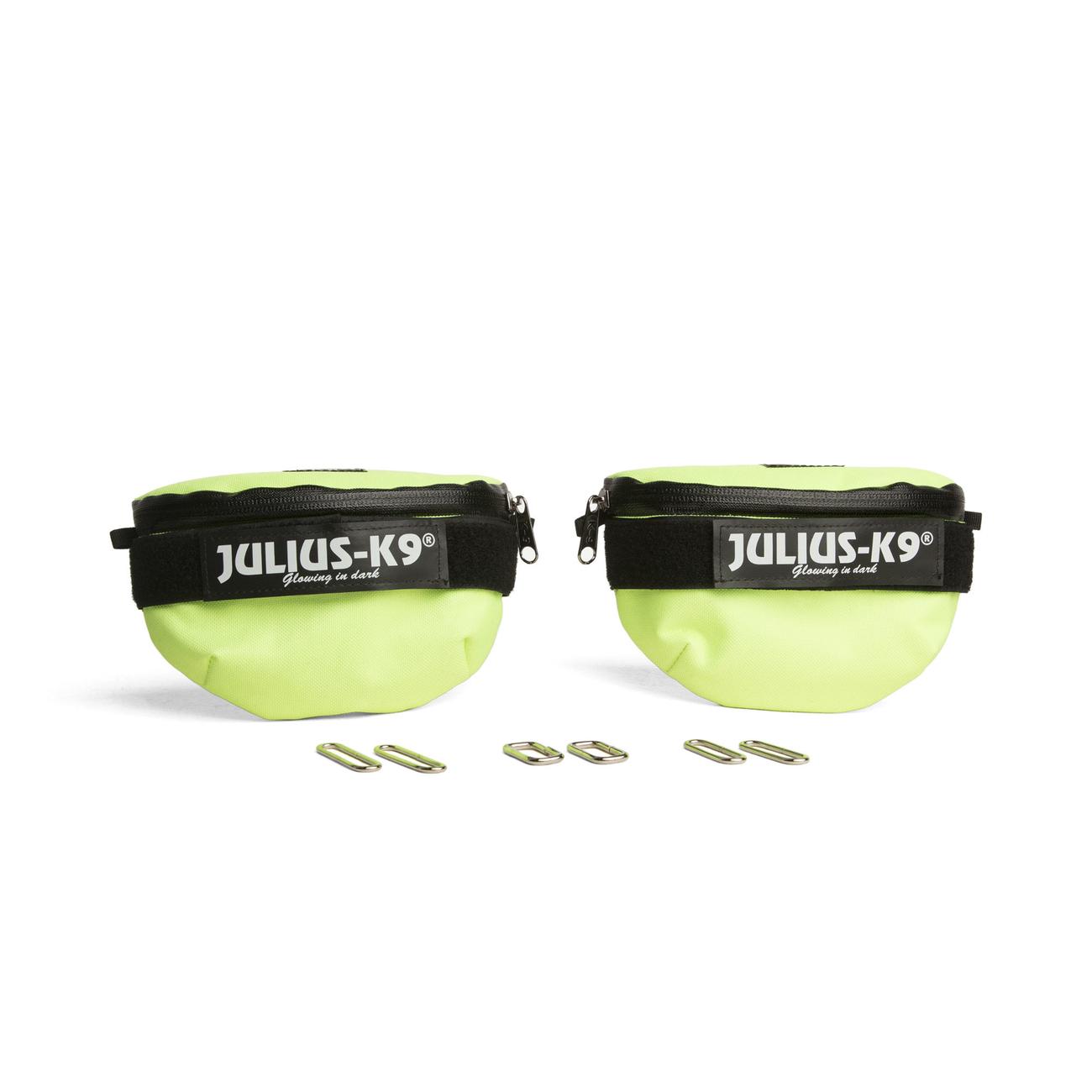 Universal Seitentasche für Julius K9 IDC-Geschirre, Baby 1 bis Mini-Mini, neon