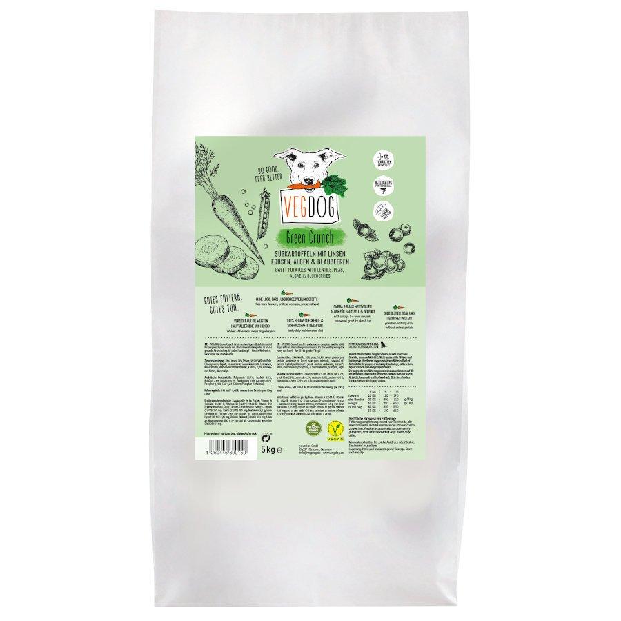 VEGDOG Veggie Crunch veganes Trockenfutter für Hunde, 10 kg (2x5 kg)