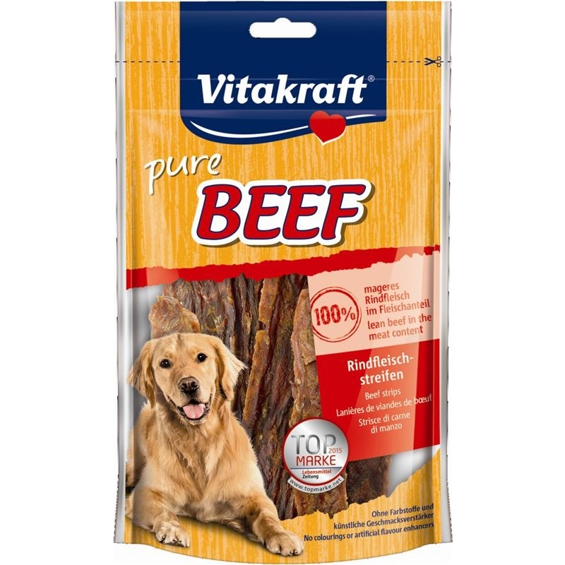 Vitakraft Dog Snack, Rindfleischstreifen 80 g