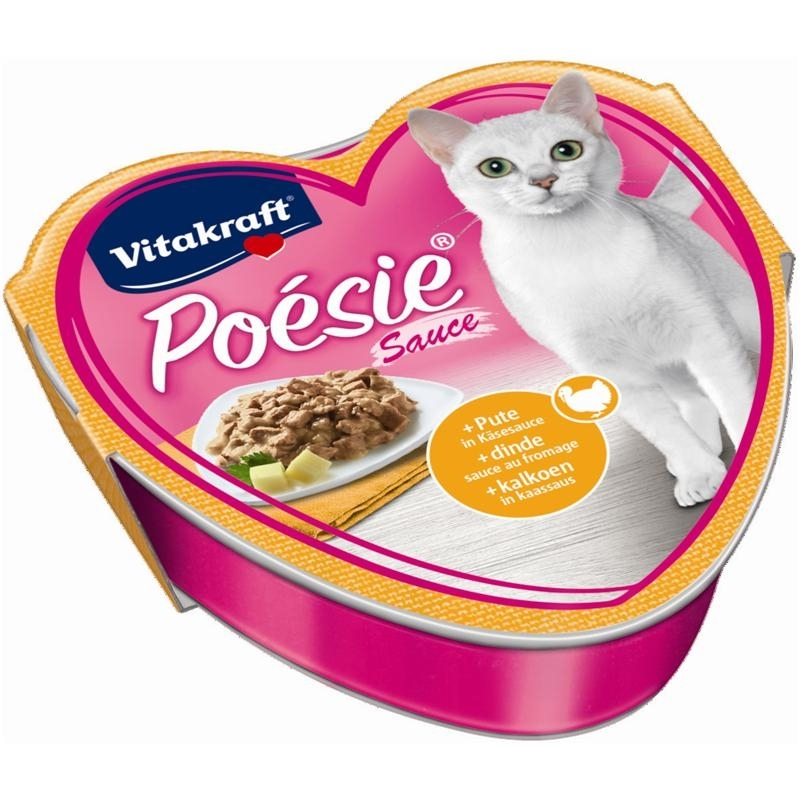 Vitakraft Poésie Katzenfutter, Sauce Pute + Käse 85 g Schale