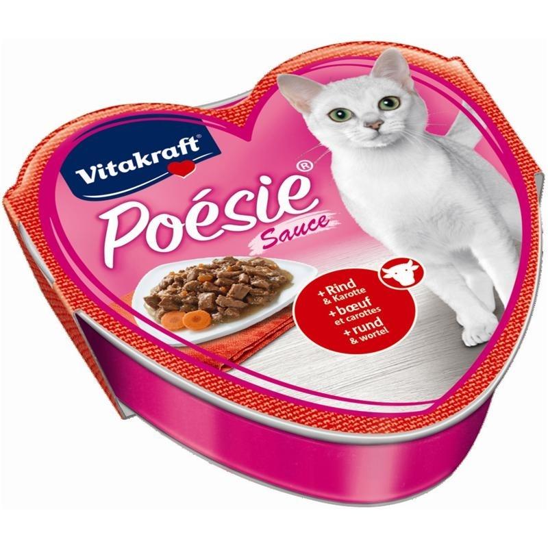 Vitakraft Poésie Katzenfutter, Sauce Rind + Karotte 85 g Schale