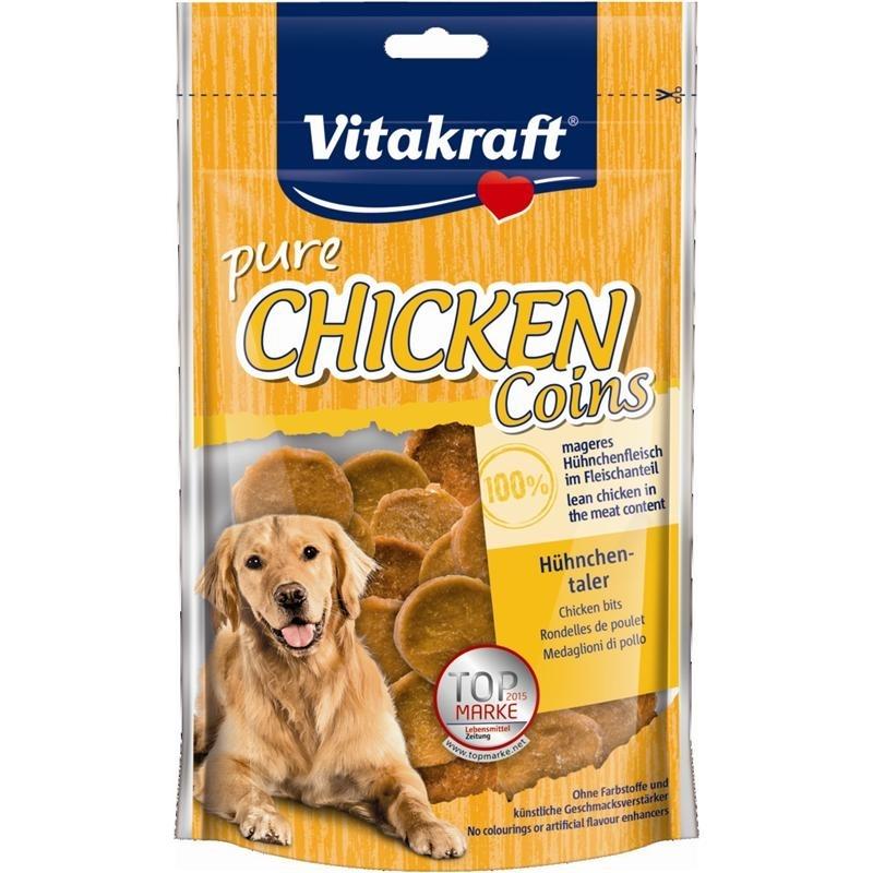 Vitakraft Snack Chicken für Hunde, Hühnchentaler 80 g