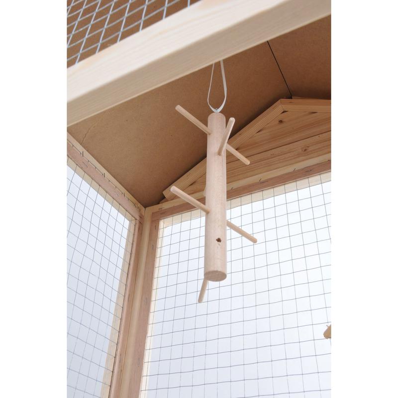 Rohrschneider Vogel Holzvoliere mit Bitumen-Dach, Bild 3