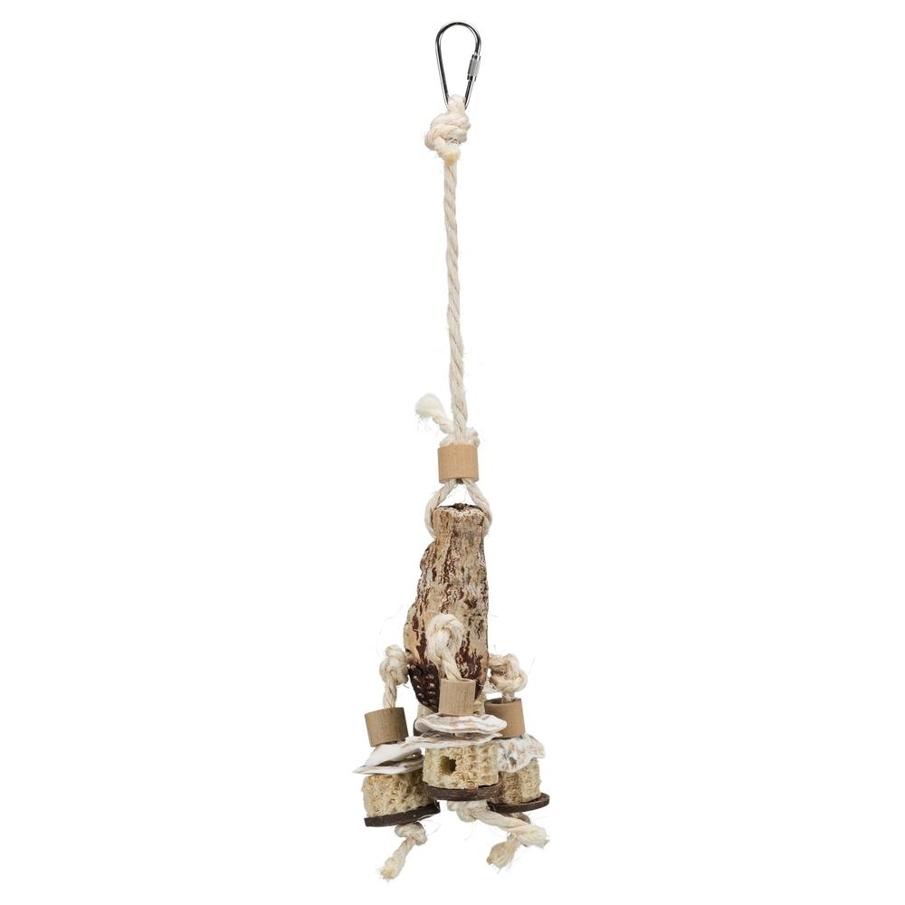 Trixie Vogel Naturspielzeug mit Mahagonischote 58922