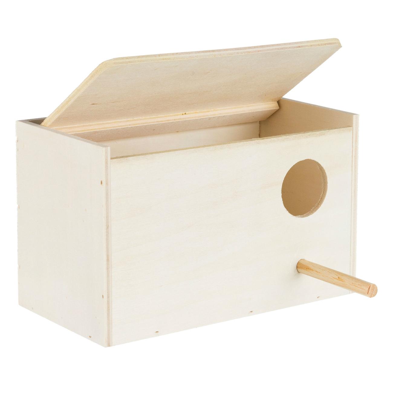 Trixie Vogel Nistkasten aus Holz, für Sittiche, Holz, 21×13×12 cm
