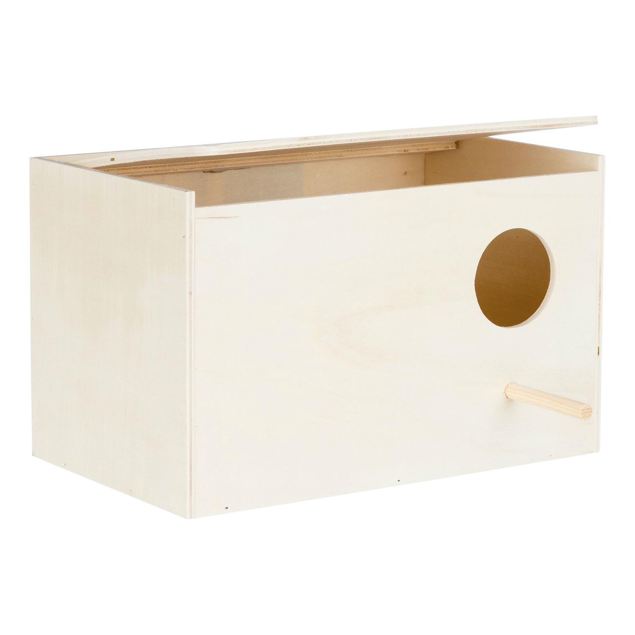 Trixie Vogel Nistkasten aus Holz, für Nymphensittiche, Holz, 30×20×20 cm