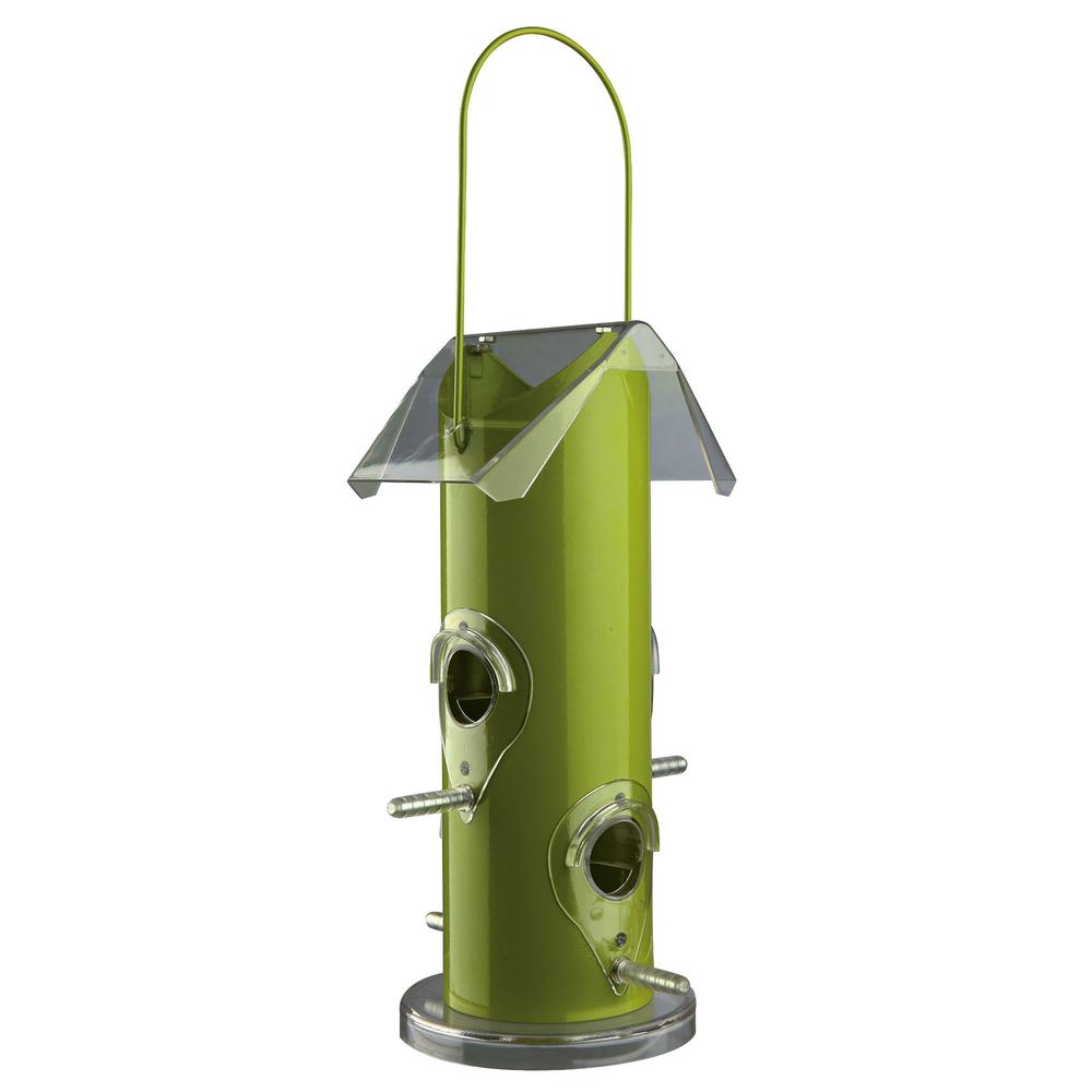 Trixie Vogelfutterspender aus Metall, 14 × 25 × 14 cm, grün