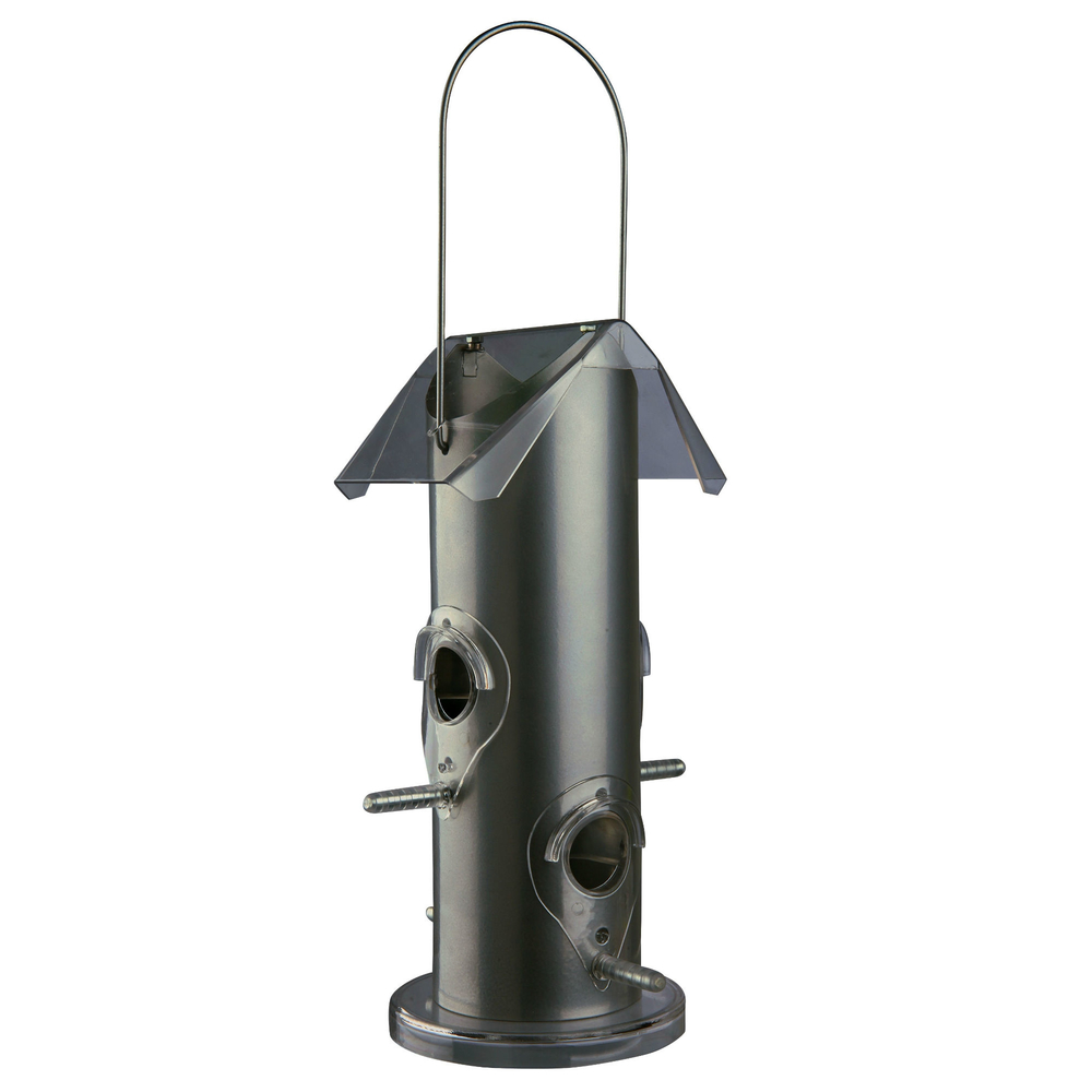 Trixie Vogelfutterspender aus Metall, 14 × 25 × 14 cm, silber
