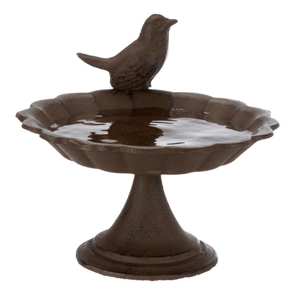 Trixie Vogeltränke aus Gusseinsen mit Standfuß, 250 ml/ø 16 cm, braun