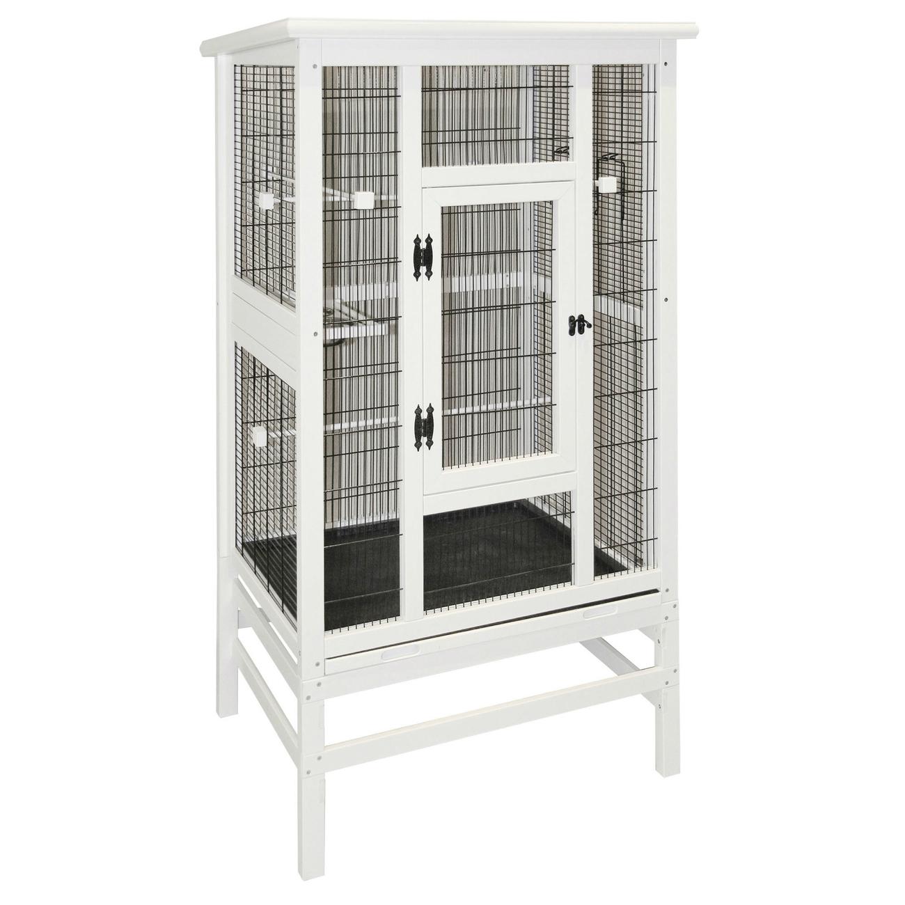 Kerbl Vogelvoliere aus Holz weiß