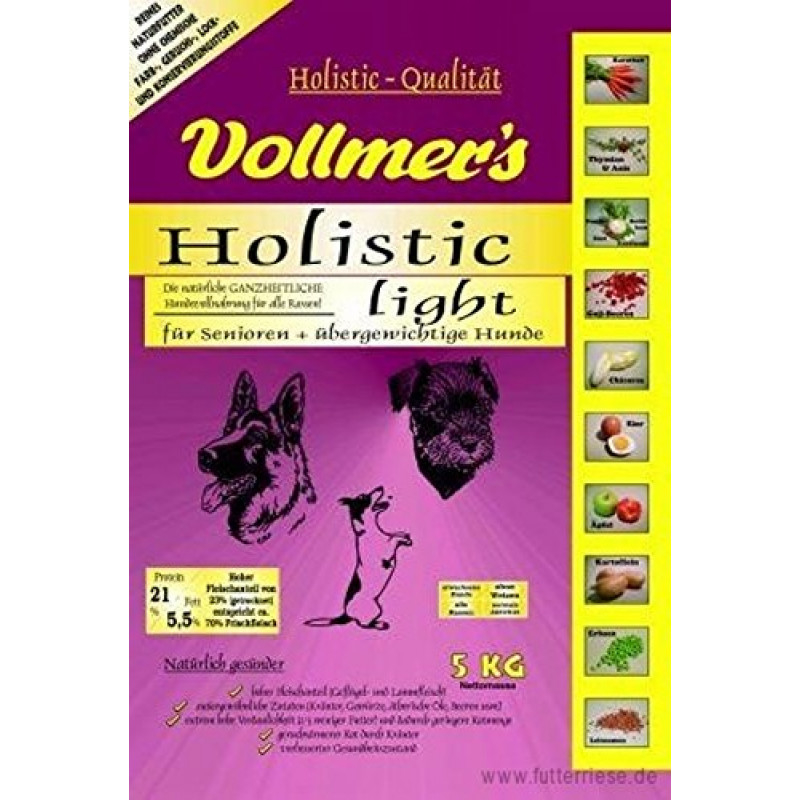Vollmers Holistic Light Hundefutter, 15 kg