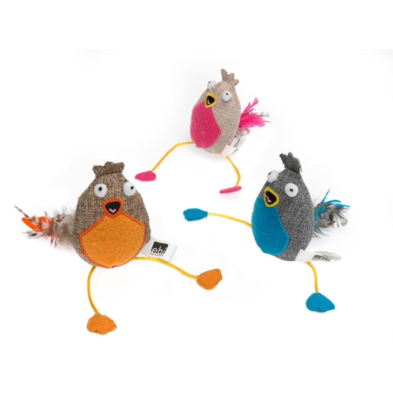 tiierisch Wanna Play Katzenspielzeug Big Bird, 8 x 7 cm