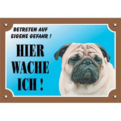 Nobby Warntafel Hund, Mops