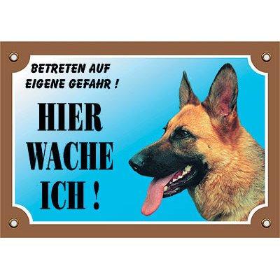 Nobby Warntafel Hund, Deutscher Schäferhund 1