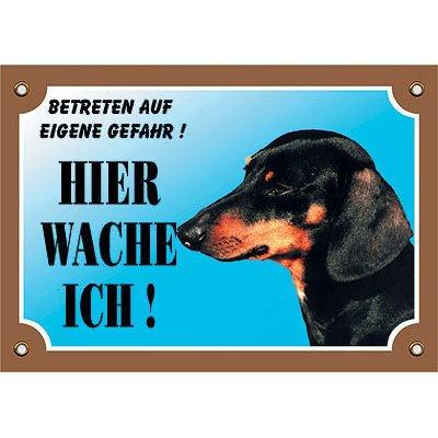 Nobby Warntafel Hund, Kurzhaar Dackel