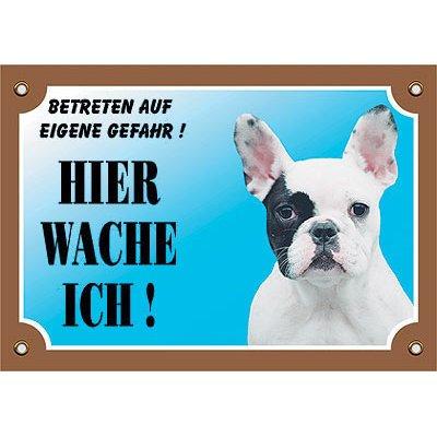 Nobby Warntafel Hund, Französische Bulldogge hell