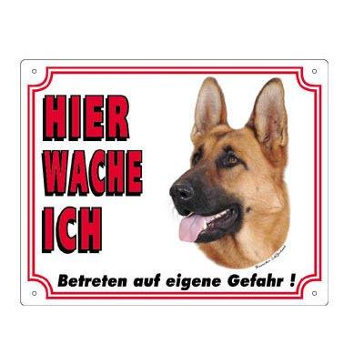 Nobby Warntafel weiß Hund, Deutscher Schäferhund