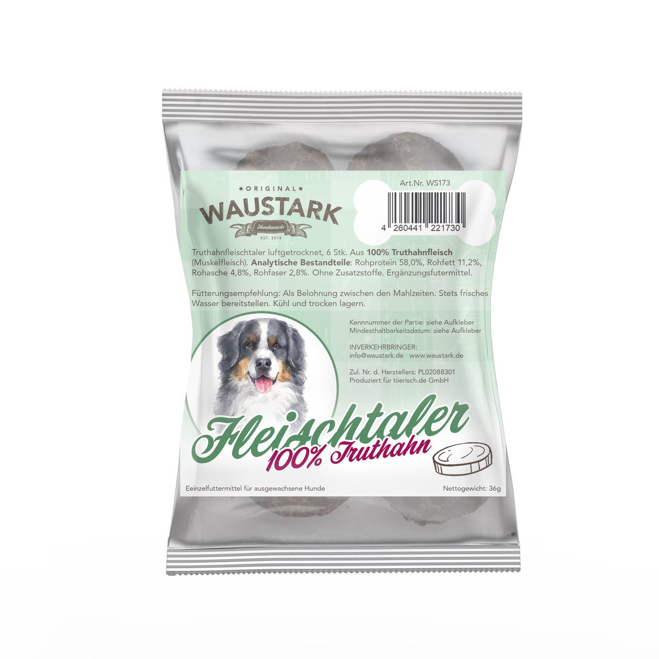 Waustark Premium luftgetrocknete Fleischtaler für Hunde