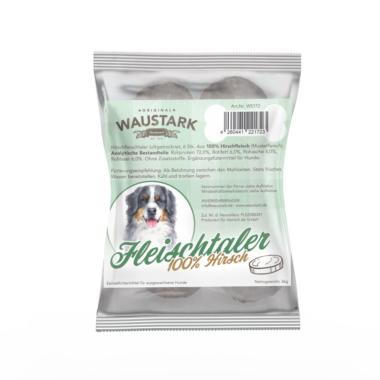 Waustark Premium luftgetrocknete Fleischtaler für Hunde, Bild 3