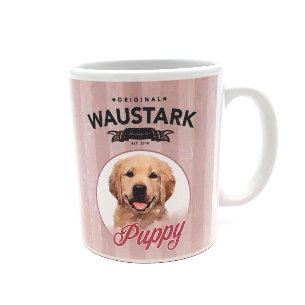 tiierisch WAUSTARK Retro Kaffeebecher, Puppy, pink